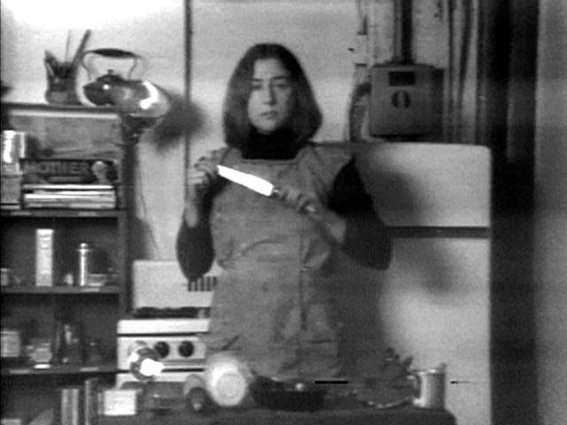 Martha Rosler, Semiotics of the Kitchen (still), 1974-75.