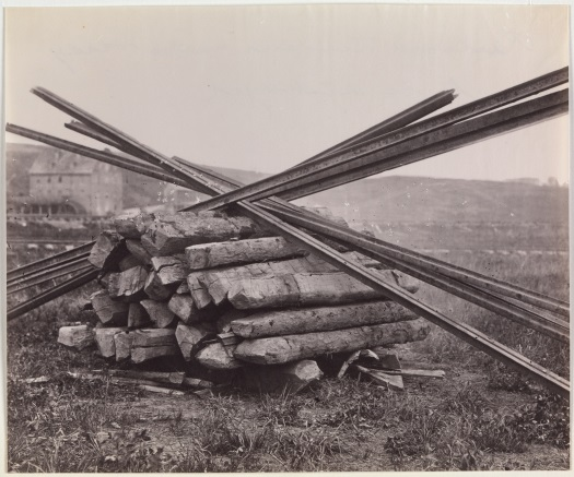 Andrew J. Russell, Confederate Method of Destroying Rail Roads at McCloud Mill, Virginia, 1863. Collection of The Metropolitan Museum of Art, New York.