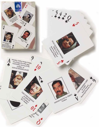 Made by Liberty Playing Card Company, Iraqi Most Wanted Playing Cards, c. 2003.
