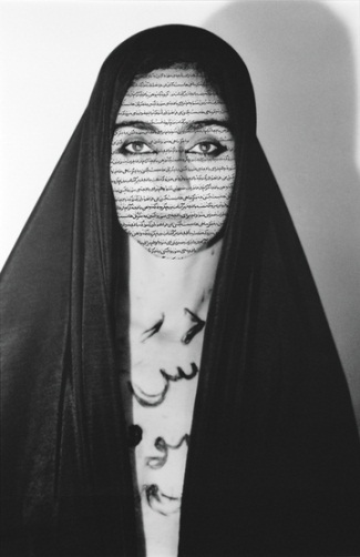 "Shirin Neshat, Unveiling from the series ""Women of Allah,"" 1993. Collection of the Whitney Museum of American Art, New York."