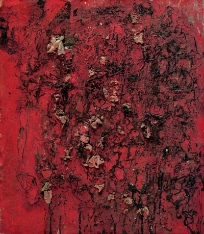 Saburo Murakami, Work [Peeling Picture], 1957. Collection of the Vervoordt Foundation, Belgium.