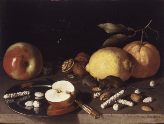 Lodewik Susi, Still Life with Mice, 1619. Collection of the St. Louis Art Museum.