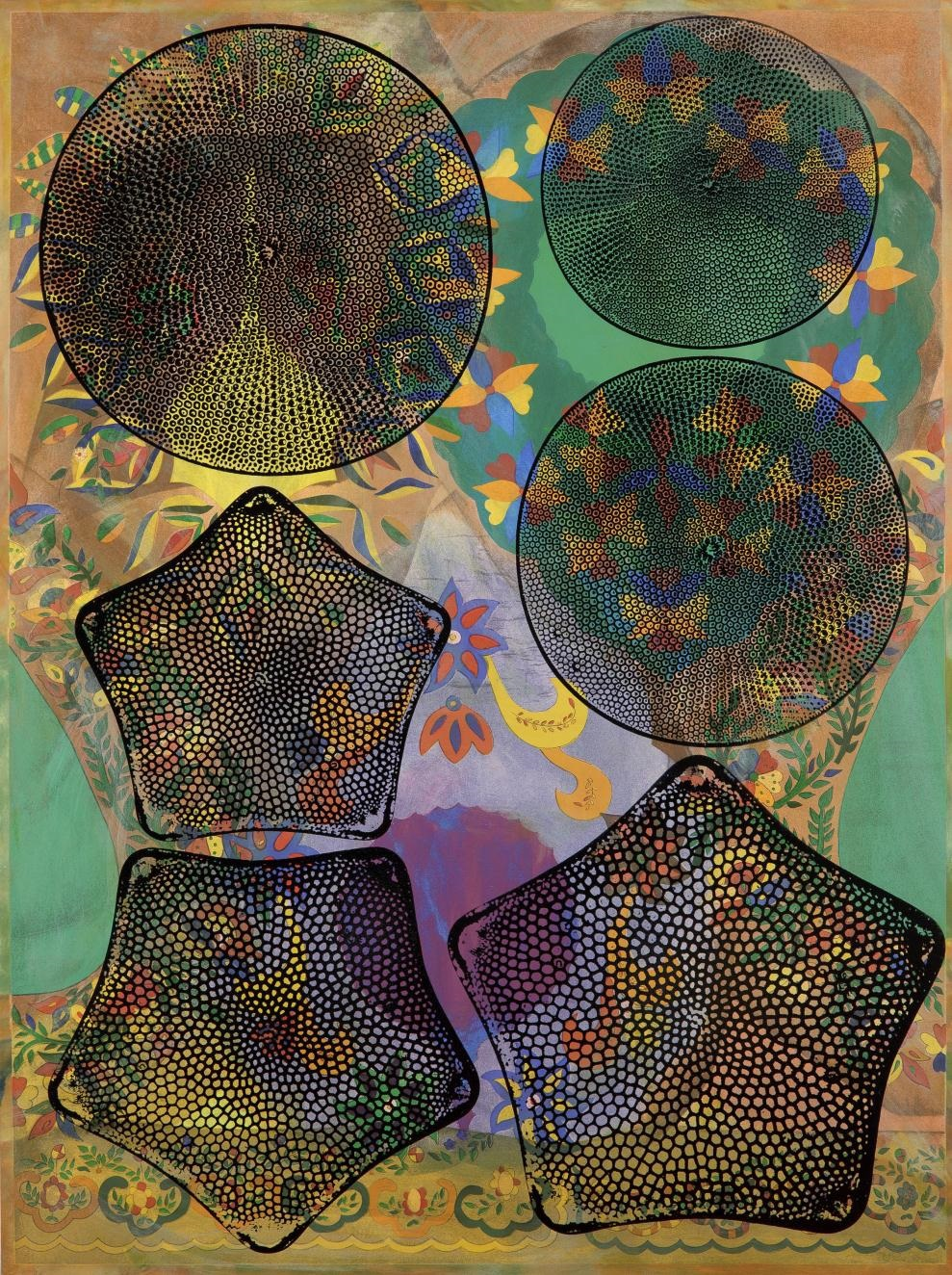 Philip Taaffe, Panel with Diatoms, 2012.