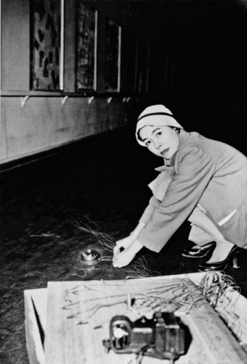 Tanaka Atsuko installing Work (Bell), 1955.