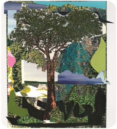 Mickalene Thomas, Landscape with Tree, 2012.