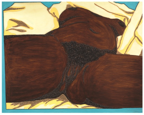 Mickalene Thomas, Origin of the Universe 1, 2012