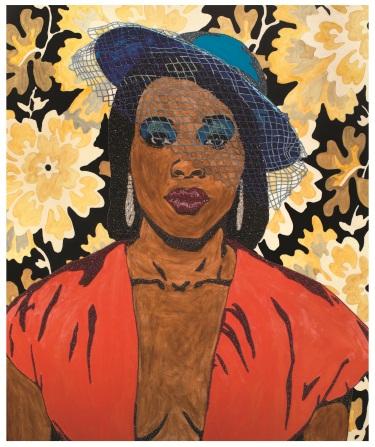 Mickalene Thomas, Qusuquzah, Une Très Belle Négresse #3, 2012.