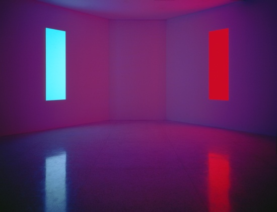 James Turrell, Stuck Red and Stuck Blue, 1970. Collection of the Museum of Contemporary Art San Diego.
