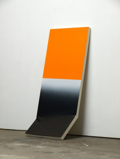Kaz Oshiro, Untitled Still Life (Abstract Painting in Orange, Black and Gray), 2009.