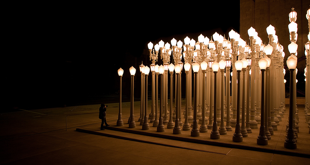 Chris Burden, Urban Light, 2008. Collection of the Los Angeles County Museum of Art.