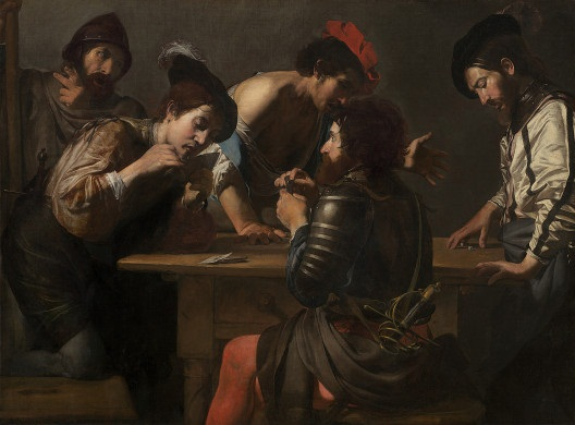 Valentin de Boulogne, Soldiers Playing Cards, ca. 1620-22. Collection of the National Gallery of Art, Washington.