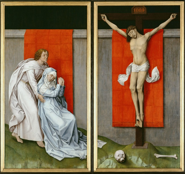 Roger van der Weyden, The Crucifixion, with the Virgin and Saint John the Evangelist Mourning, ca. 1460. Collection of the Philadelphia Museum of Art.
