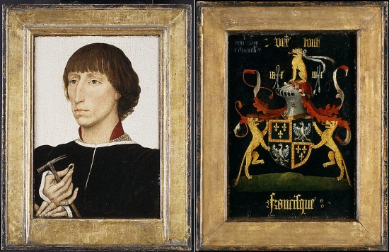 Roger van der Weyden, Portrait of Francesco d'Este, ca. 1460. Collection of the Metropolitan Museum of Art, New York.