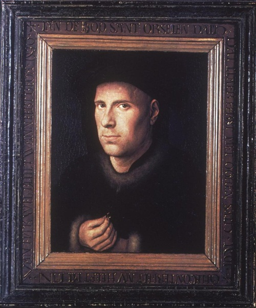 Jan van Eyck, Portrait of Jan de Leeuw, 1436. Collection or the Kunsthistoriches Museum, Vienna.