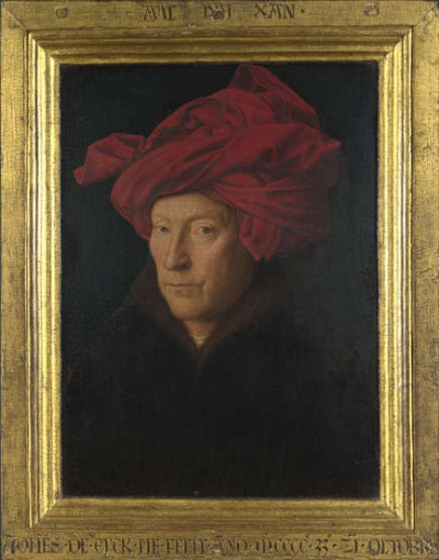 Jan van Eyck, Portrait of a Man (Self-Portrait?), 1433. Collection of the National Gallery, London.