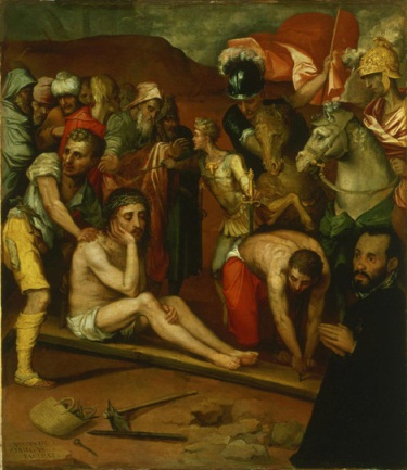 Luis de Vargas, Preparations for the Crucifixion, mid-16th-century. Collection of the Philadelphia Art Museum.