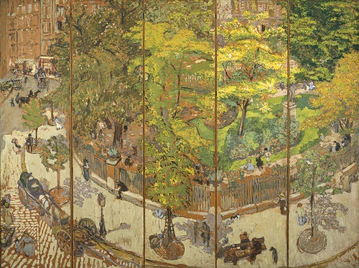 Edouard Vuillard, Place Vintimille, 1911. Collection of the National Gallery of Art, Washington.
