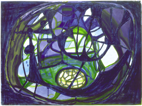 Terry Winters, Vorticity Field, 1995.