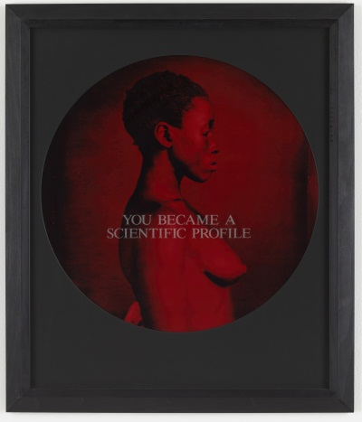 Carrie Mae Weems, You Became a Scientific Profile from From Here I Saw What Happened and I Cried, 1995–96. Collection of the Museum of Modern Art, New York.