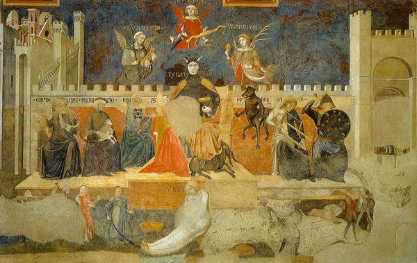 Ambrogio Lorenzetti, The Allegory of Good and Bad Government (detail of Allegory of Bad Government), 1338-39.