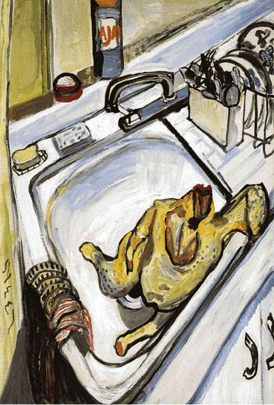 Alice Neel, Thanksgiving, 1965.