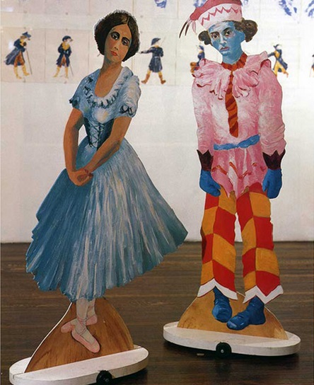 "Eleanor Antin, Two puppets from the performance ""Before the Revolution,"" 1979."