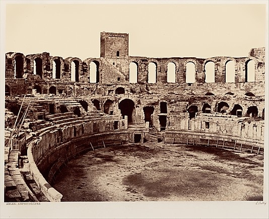 Edouard Baldus, Arles, Amphitheatre, ca. 1855-59. Collection of the Metropolitan Museum of Art, New York.