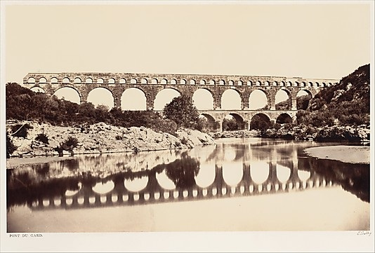 Edouard Baldus, Pont du Gard, ca. 1861. Collection of the Metropolitan Museum of Art, New York.