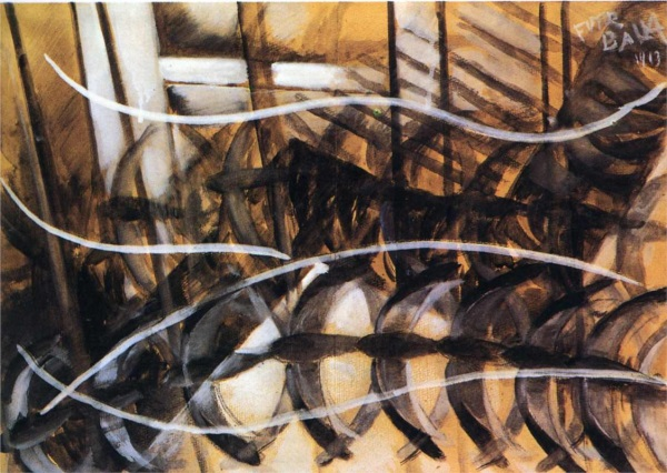 Giacomo Balla, Lines of Movement and Dynamic Succession, 1913.