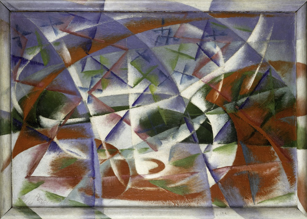 Giacomo Balla, Abstract Speed + Sound, 1913-14. Collection of the Solomon R. Guggenheim Foundation, Peggy Guggenheim Collection, Venice.
