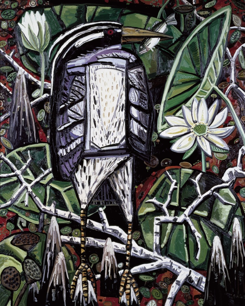 David Bates, Night Heron, 1986. Collection of the Modern Art Museum of Fort Worth.