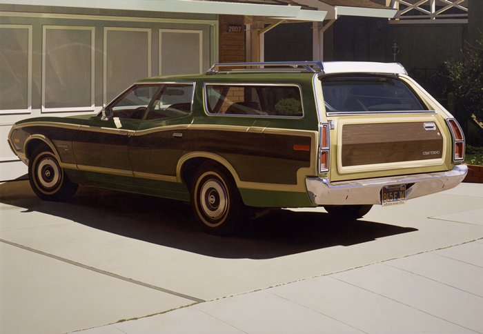 Robert Bechtle, Alameda Gran Torino, 1974. Collection of the San Francisco Museum of Modern Art.
