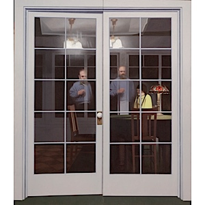 Robert Bechtle, French Doors II, 1966. Collection of the Crocker Art Museum, Sacramento.