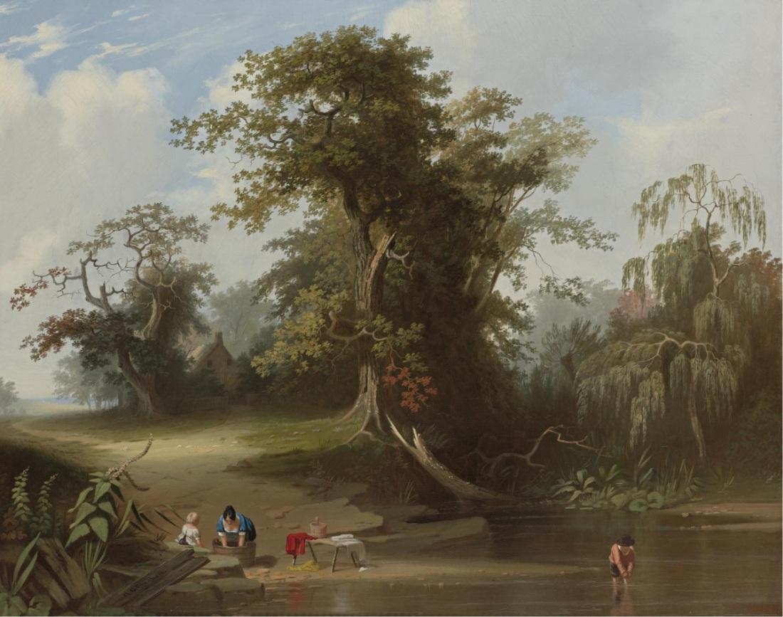 George Caleb Bingham, Landscape, Rural Scenery, 1845.