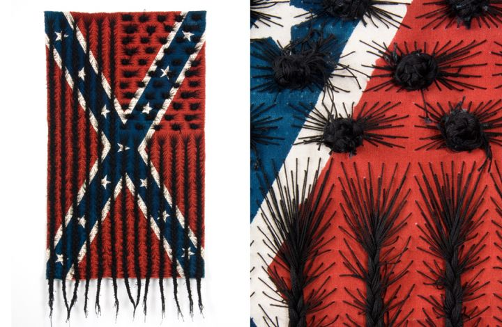 Sony Clark, black hair flag, 2010.