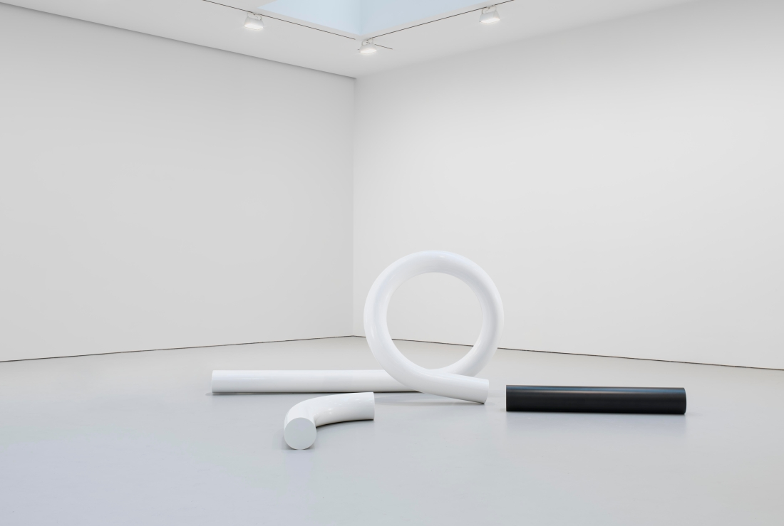 Carol Bove, The White Tubular Glyph, 2012.