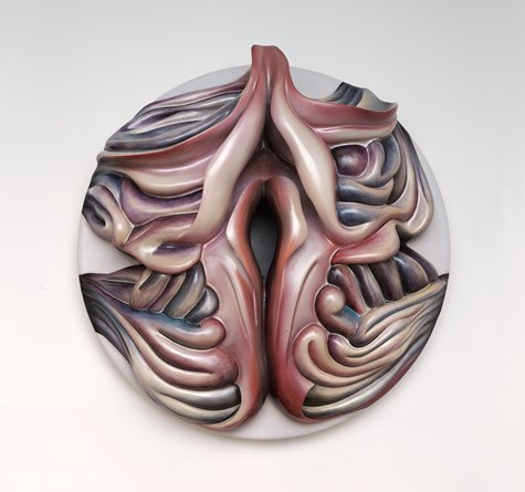 Judy Chicago, Georgia O'Keeffe Plate #1, 1979. Collection of the San Francisco Museum of Modern Art.