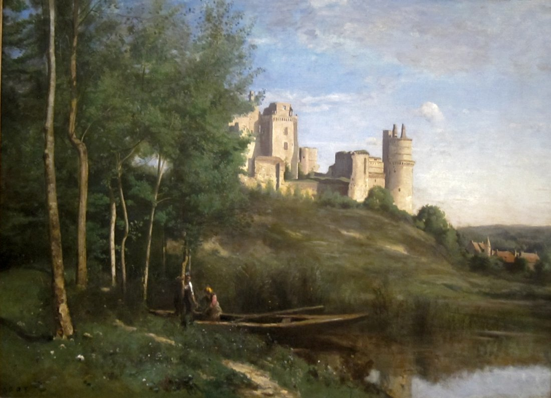 Jean-Baptiste-Camille Corot, Ruins of the Cheateau of Pierrefonds, ca. 1840-45, reworked ca. 1866-67. Collection of the Cincinnati Art Museum.