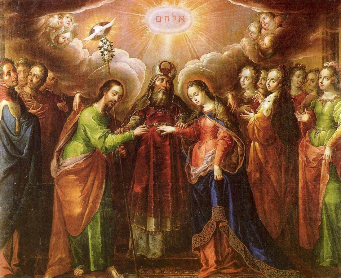 Cristóbal de Villalpando, Marriage of the Virgin, c. 1690-1700.