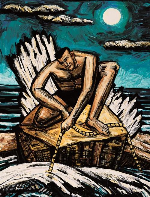 David Bates, Shark Line, 1990.