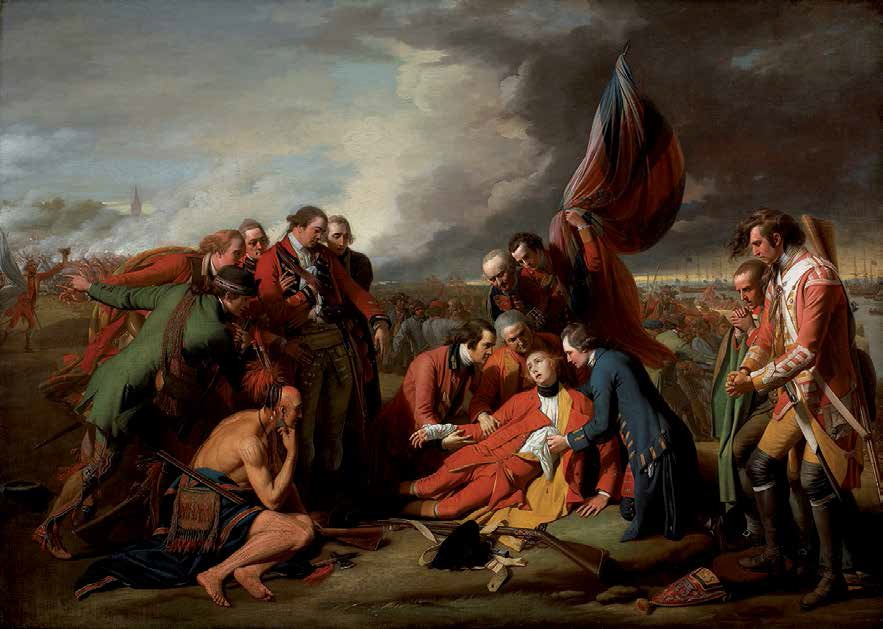 Benjamin West, The Death of General Wolfe, 1770. Collection of the National Gallery of Canada, Ottawa.