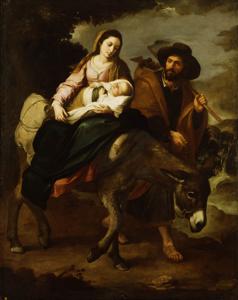 Murillo, The Flight into Egypt, ca. 1647-50. Collection of the Detroit Institute of Arts.