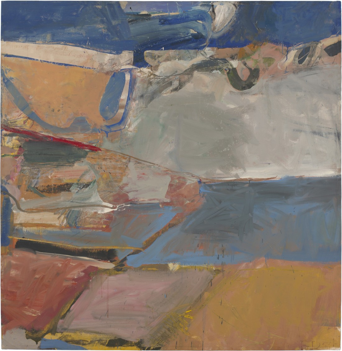 Richard Diebenkorn, Berkeley #22, 1954. Collection of the Hirshhorn Museum and Sculpture Garden, Washington.