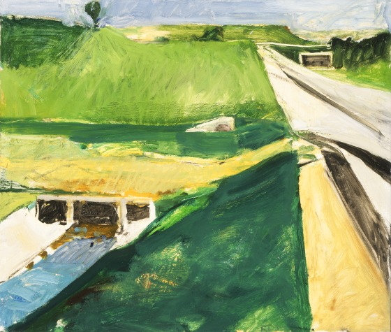 Richard Diebenkorn, Freeway and Aqueduct, 1957. Collection of the Los Angeles County Museum of Art.
