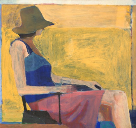 Richard Diebenkorn, Seated Figure with Hat, 1967. Collection of the National Gallery of Art, Washington.