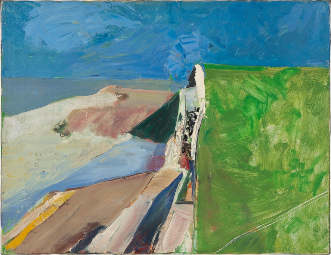 Richard Diebenkorn, Seawall, 1957. Collection of the Fine Arts Museums of San Francisco.