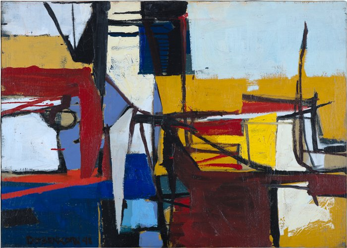 Richard Diebenkorn, Untitled (Sausalito #3), 1948. Collection of the San Francisco Museum of Modern Art.