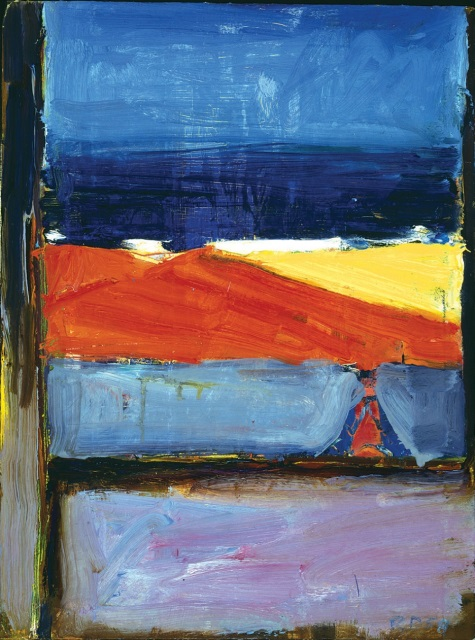 Richard Diebenkorn, View of the Ocean, Santa Cruz Island, 1958. Collection of the Santa Cruz Island Foundation.