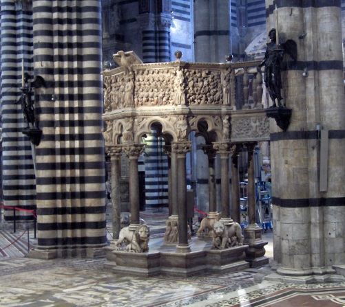 Nicola Pisano, Duomo Pulpit, Siena, 1265-68.