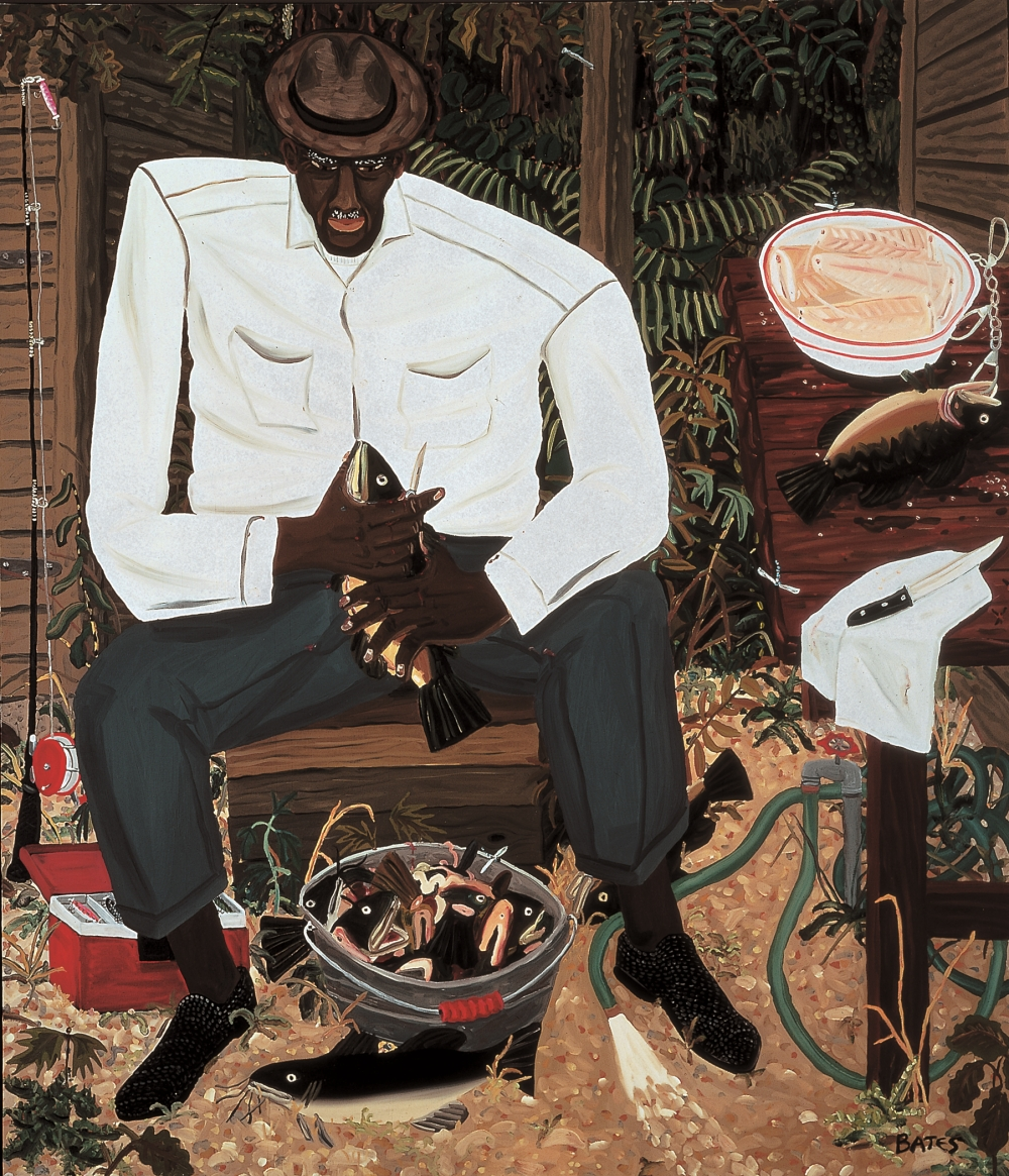 David Bates, Ed Walker Cleaning Fish, 1982.